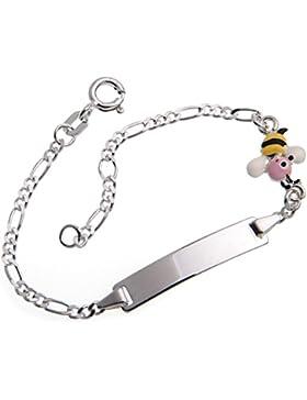 Baby- und Kinder Gravur Armband mit Gravur (beidseitig möglich) 925 Silber, Länge wählbar 10,5-15,5cm