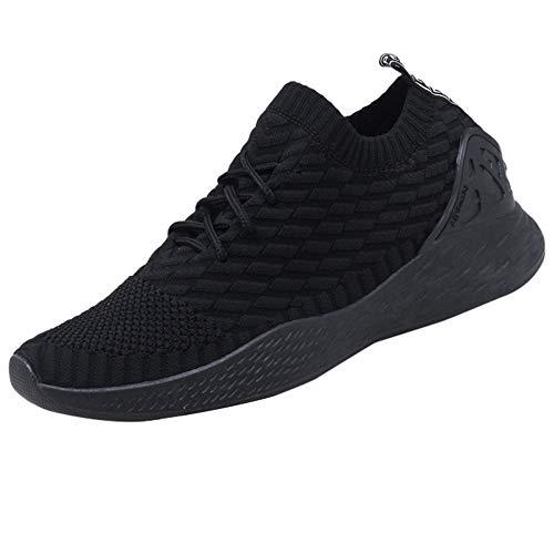 MEIbax Uomo Scarpe Running Basse Scarpe da Escursionismo Leggere Lace-up Scarpe Running estive Sneakers Mesh Casual Antiscivolo Traspirante