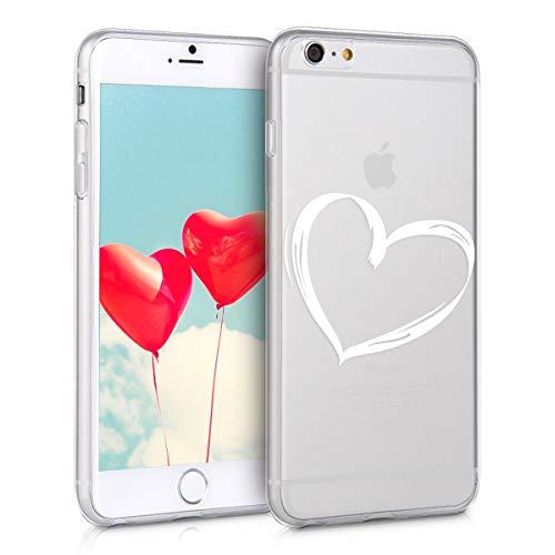 kwmobile Apple iPhone 6 Plus / 6S Plus Hülle - Handyhülle für Apple iPhone 6 Plus / 6S Plus - Handy Case in Weiß Transparent