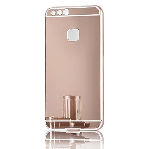 Luxus Sunroyal Ultra-dünne Schutzhülle Aluminium Metallgehäuse, Spiegel Hülle Mirror Effect Tasche Case for Huawei P10 Plus 5.5
