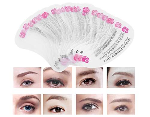 24 stücke Verschiedene Arten Augenbrauenschablonen Praktisch, wiederverwendbar 7947 - 1 Schablone Richtung
