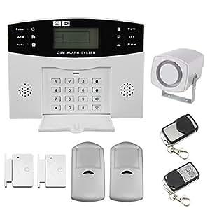 écran LCD portable SMS de sécurité sans fil GSM Autodial Home Maison Système d'alarme anti-intrusion Cambrioleur