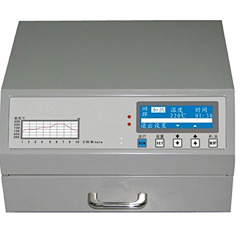 Gowe 600W Automatik bleifreies Reflow-Ofen für SMD Rework, Lötzinn Bereich 180* 120mm