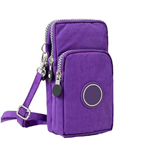 Ysoom Phone Tasche, Multifunktionale Handy Tasche 3 Schichten Crossbody Schulter Mini Handtasche wasserdicht Nylon Wristlet Purse 17 * 9 * 9 cm Iii Handy