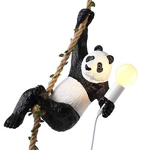 Lustre, Résine 3 Écureuil Couleur Pendentif Lampe, Tête De Lampe En Forme De Poisson, Alliage Lampe Corps Anti-Oxydation, Avec Ampoule 5W, 110-240V Tension,--45 * 3 Pouces (Longe Réglable),White