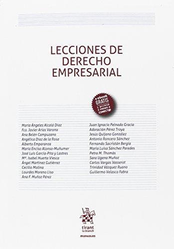 Lecciones de Derecho Empresarial (Manuales de Derecho Civil y Mercantil) por Adoración Pérez Troya