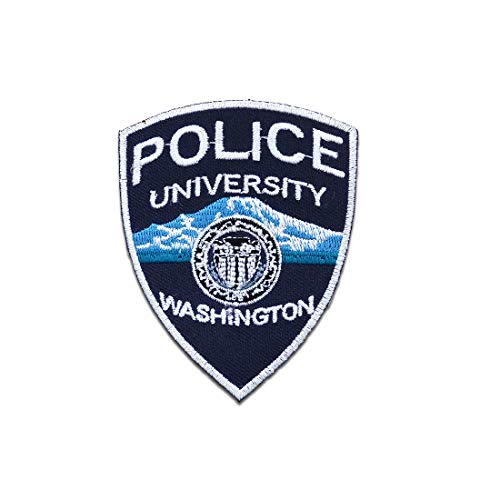 - Police University Polizei Logo - blau - 7 x 8.7 cm - Patch Aufbügler Applikationen zum aufbügeln Applikation Patches Flicken ()