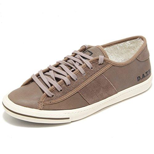 D.A.T.E. sneaker TENDER LOW PLUS STORM CHOCOLAT tortora scuro