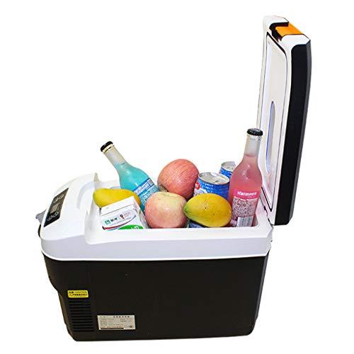 Auto kühlschrank mini kühlschrank tragbare halbleiter inkubator auto kühlbox 10L, 12 V / 220 V (knopf mechanische, intelligente digitalanzeige) (Und Weiß-leis Rot)