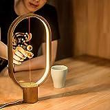 99native Balance Lamp, Nouvelle Lampe de Table LED à air magnétique 2018 pour Chambre à Coucher, Chevet, Maison, Bureau, café-Bar, Lampe LED Warm Eye-Care (Beige)