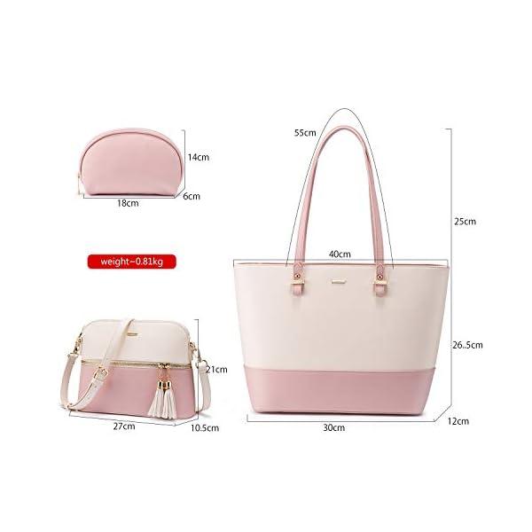 41ltY6HwBuL. SS600  - Bolso para mujer Señoras Shopper Hobo Bolso de hombro Monedero Bolso grande para mujer Tote para oficina Escuela Compras…