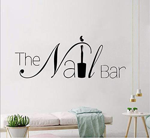 Zxfcczxf Die Nagel Bar Logo Wand Fenster Aufkleber Maniküre Design WandAbnehmbare Nail Art Wall Poster Schönheitssalon Fenster Dekor 57 * 22 Cm (Für Halloween-design Die Nägel)