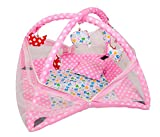 #8: Deals Outlet Baby Kick and Play Gym with Mosquito Net and Baby Bedding Set (Pink)