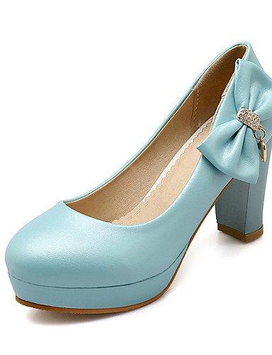 WSS 2016 Chaussures Femme-Mariage / Habillé / Décontracté / Soirée & Evénement-Noir / Bleu / Rose / Blanc-Gros Talon-Talons-Chaussures à Talons- white-us6.5-7 / eu37 / uk4.5-5 / cn37