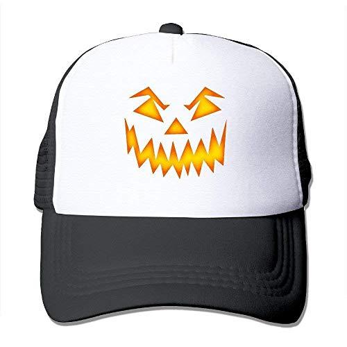 Hipiyoled Jack O Lantern Pumpkin Face Halloween Fashion Unisex Trucker Hüte,Adjustable Baseball Cap Hüte 5Z703 Halloween-trucker Hut