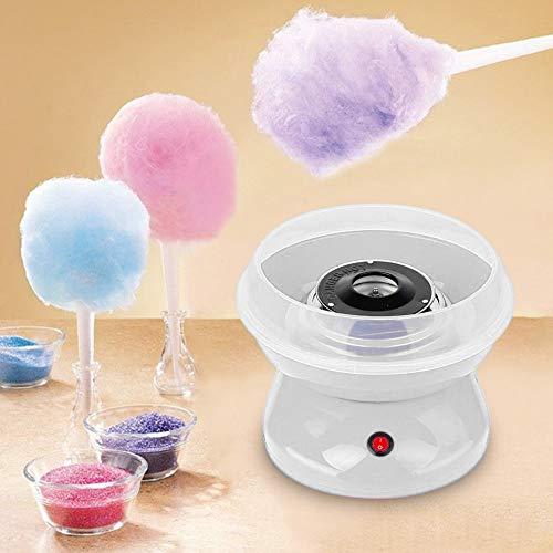 About1988 Zuckerwatte Maschine, Zuckerwattemaschine Wagen für Zuhause Cotton Candy Machine für Zucker oder Harte Süßigkeiten Zuckerwattegerät für Kindergeburtstag,Weiß (Weiß)