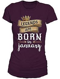Legends Are Born In January Geburtstag Geschenk T-Shirt Damen