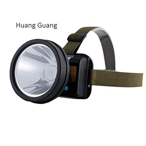 Lampade da testa fari luci da campeggio a led luci sportive per esterni luci per pesca notturna luci per arrampicata fari a sensore (color : yellow light, size : 8.4 * 8 * 8.4cm)