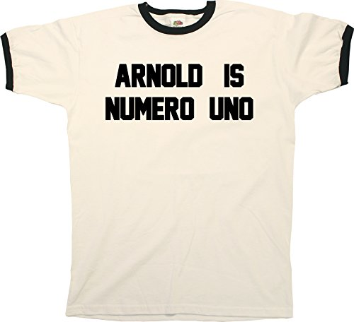 Arnold Is Numero Uno Funny Mens RINGER T-Shirt Retro Style