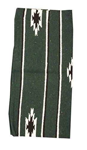 Reitsport Amesbichler AMKA Westernpad grün Pony Sattel Navajo Decke 26 x 26 Inch, 66 x 66 cm Western Satteldecke für Ponysättel Saddle Blanket