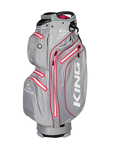 Cobra 2018 King Dry Tech Wasserdicht Golf Cartbag Damen Grau Pink