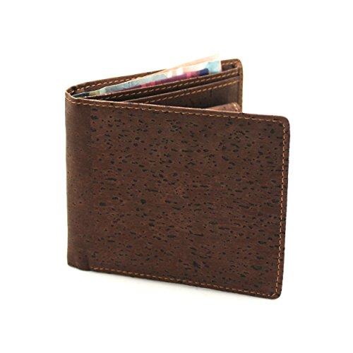Vegane Geldbörse von boshiho aus Kork – dunkelbraun - 4