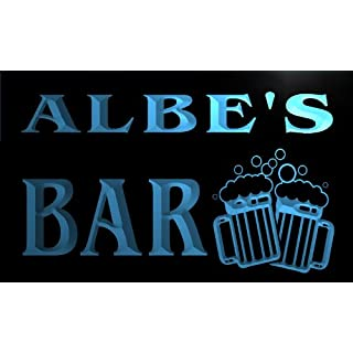 w108159-b ALBE Name Home Bar Pub Beer Mugs Cheers Neon Light Sign