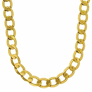 HOPLO 5,0 mm 333 Gold Panzerkette facettiert Goldkette 8 kt Massiv Gold 19-60 cm