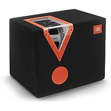 JBL CSX-1400BP - Caja subwoofer de automóvil (filtro de paso de banda, 12 pulgadas/300 mm, ventana acrílica, color negro y naranja
