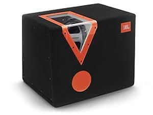 JBL CSX-1400BP 12-Inch Car Audio Bandpass Subwoofer Box with Acrylic Window - Black/Orange