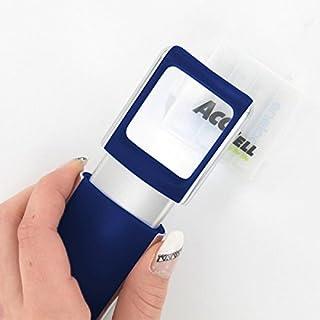 Lupe mit LED-Beleuchtung und 3fach Vergrösserung Farbe Blau