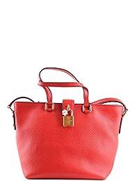 Dolce E Gabbana Mujer MCBI099378O Rojo Cuero Bolso Tipo Shopper