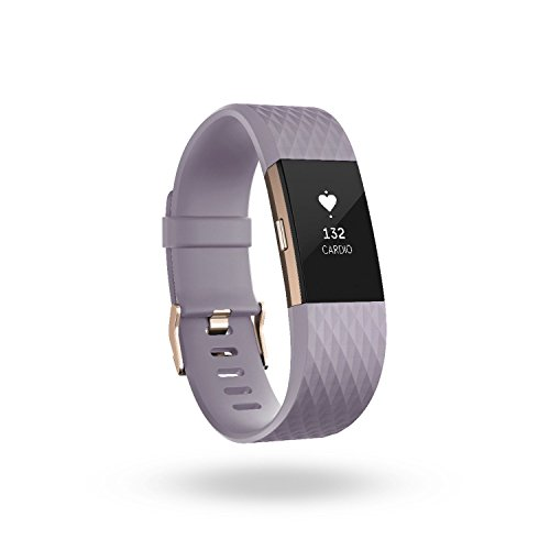 Fitbit Charge 2 Activity Tracker with Wrist Based Heart Rate Monitor – Lavender/Small