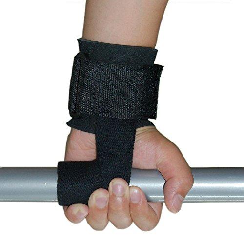 grofitness Gewichtheben Handgelenk Unterstützung Packungen mit langem Gürtel für Übung Fitness Crossfit Training Heben, 1Paar