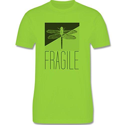 Statement Shirts - Fragile - Libelle - Herren Premium T-Shirt Hellgrün