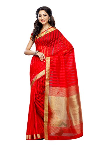 Mimosa Women's Raw Silk Saree With Blouse Piece (Prs30-Red,Red,Free Size)  available at amazon for Rs.719