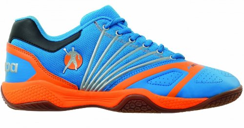 Kempa Thunderstorm - Scarpe da basket, Blu/Orange, taglia 45