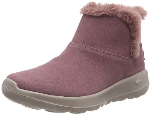 9,5 M Schuhe (Skechers Damen On-The-go - Bundle Up Kurzschaft Stiefel, Violett (Mauve Mve), 39.5 EU)