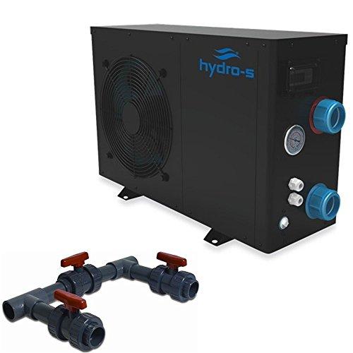 Hydro-S Wärmepumpe 12 kW 230 V Modell bis 60 m³ mit Bypass-Set by time4wellness