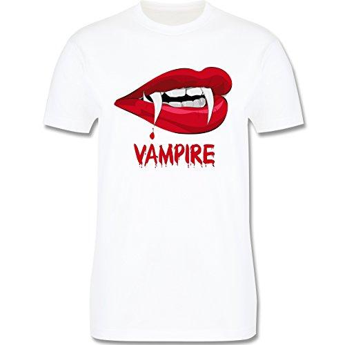 Halloween - Vampire Blut - Herren Premium T-Shirt Weiß