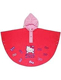 HK811 Poncho imperméable à capuche pour filles Hello Kitty 2 à 6 ans