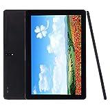 Android Tablet 10 Zoll, Android 9.0 Go entsperrter Tablet-PC mit SIM-Kartensteckplätzen, Unterstützung für 4G-Telefone, Deca-Core, 2,8 GHz, 64 GB, 5MP + 13MP Dual-Kamera, WiFi, GPS (Schwarz)