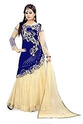 Fabcartz Womens Semi Stitched Lehanga Choli (App_L_245_Multicolor_Free Size)