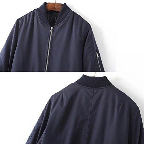 Zhuhaitf Style Décontracté Mens Padded Bomber Jackets Zip Up Biker Coats green