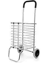 Handcart Shopping Utility Cart Mode Storage Folding Shopping Cart With Wheels