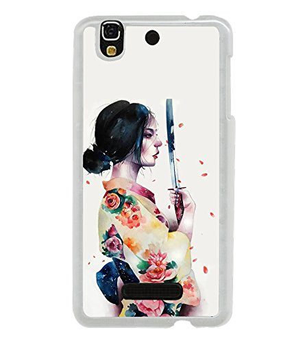 Fiobs Designer Back Case Cover for YU Yureka Plus :: Yu Yureka Plus YU5510A (Flowers Lady Women Beautiful Mirror Floral)