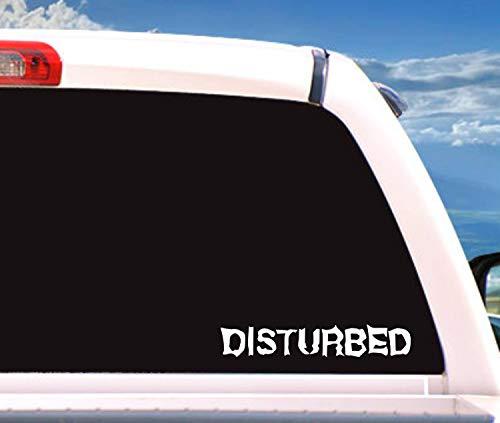 Celycasy Disturbed Aufkleber, Autozubehör, Auto-Aufkleber, Vinyl-Aufkleber, Auto-Aufkleber, Geschenk für Männer, Geschenke für Frauen, lustig