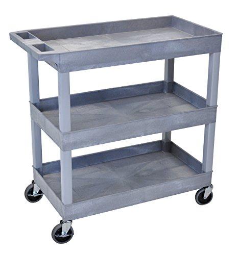 3 Shelf,Gray Luxor Tub Cart