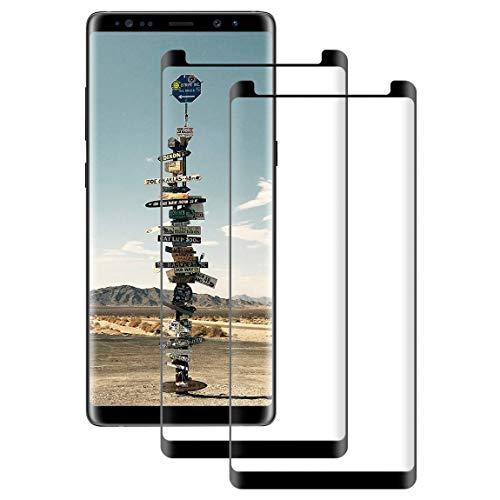 DOSNTO [2 Pack Panzerglas Displayschutzfolie Kompatibel mit Samsung Galaxy Note 8 3D Glas Panzerglasfolie Anti-Kratzer High Sensitive Blasenfreie Starke Klebefolie Blendschutz