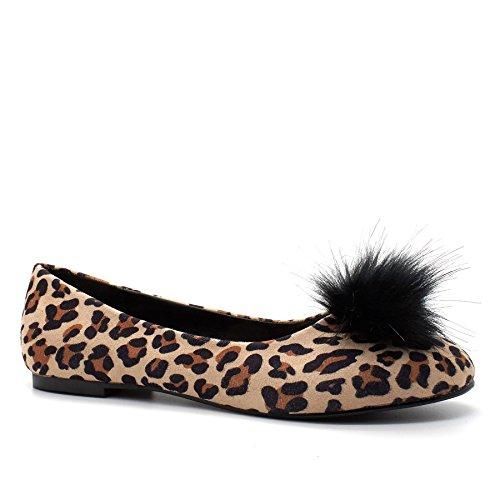 London Footwear - Ballet donna Leopard